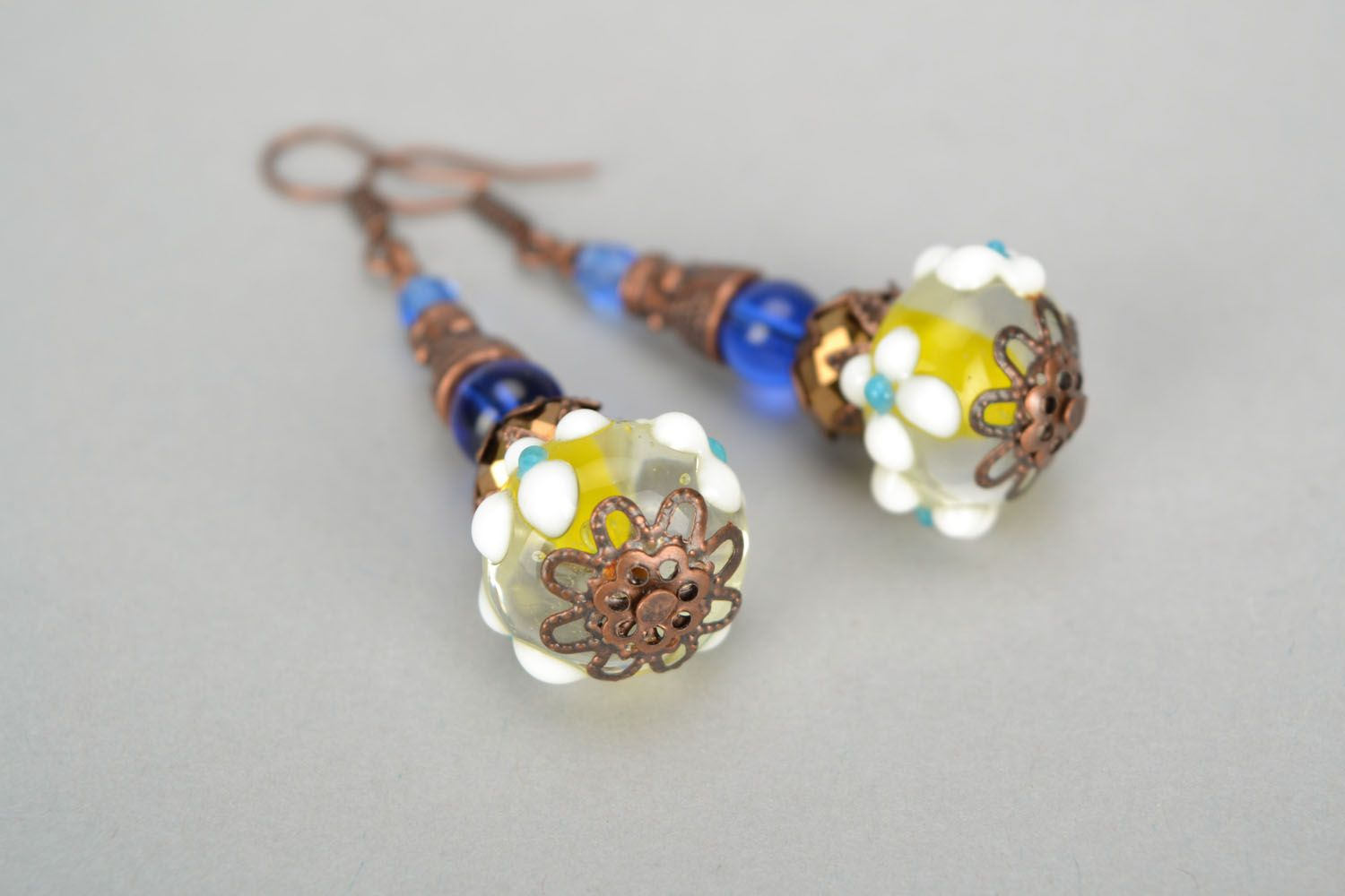 Designer glass earrings photo 5