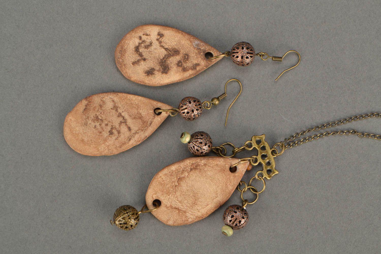 Set of clay jewelry Ethnic photo 5