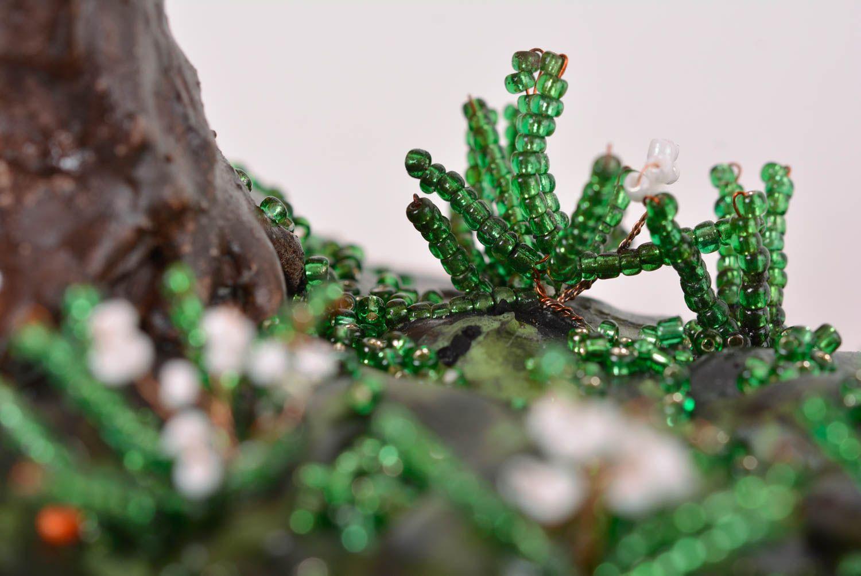topiarien glasperlen deko handmade kunst baum tischdekoration ideen fr haus interieur madeheartcom