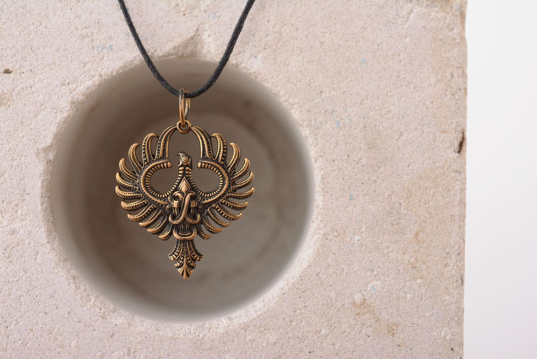 Bronze pendant Phoenix photo 2
