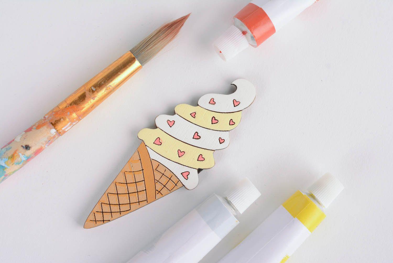 Homemade fridge magnet Ice Cream photo 3