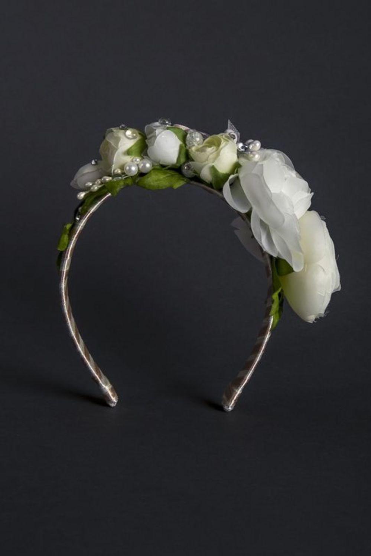 Wedding head wreath photo 2