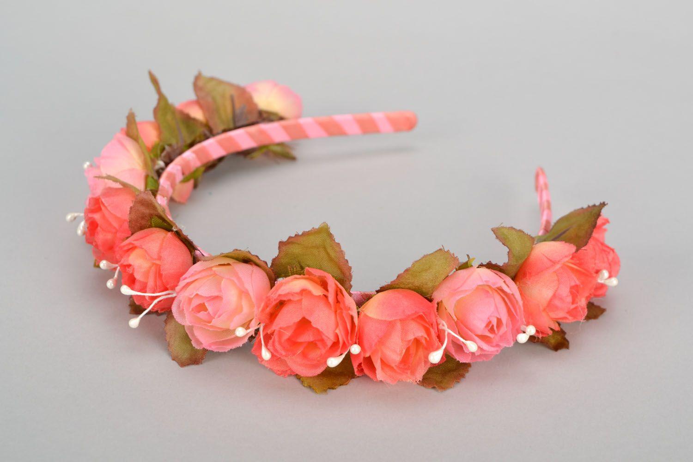 Headband with rose buds photo 5