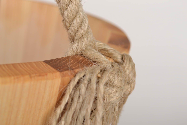 Handmade bucket made of wood sauna accessories sauna bucket present for men photo 3