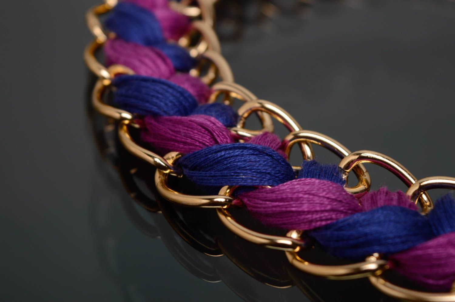 Woven moulin thread necklace photo 3