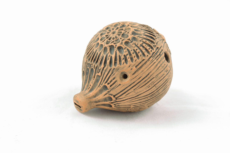 Handmade clay penny whistle photo 2
