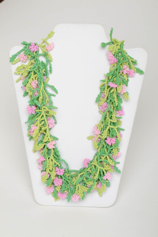 Колье бусы ожерелье из бисера
