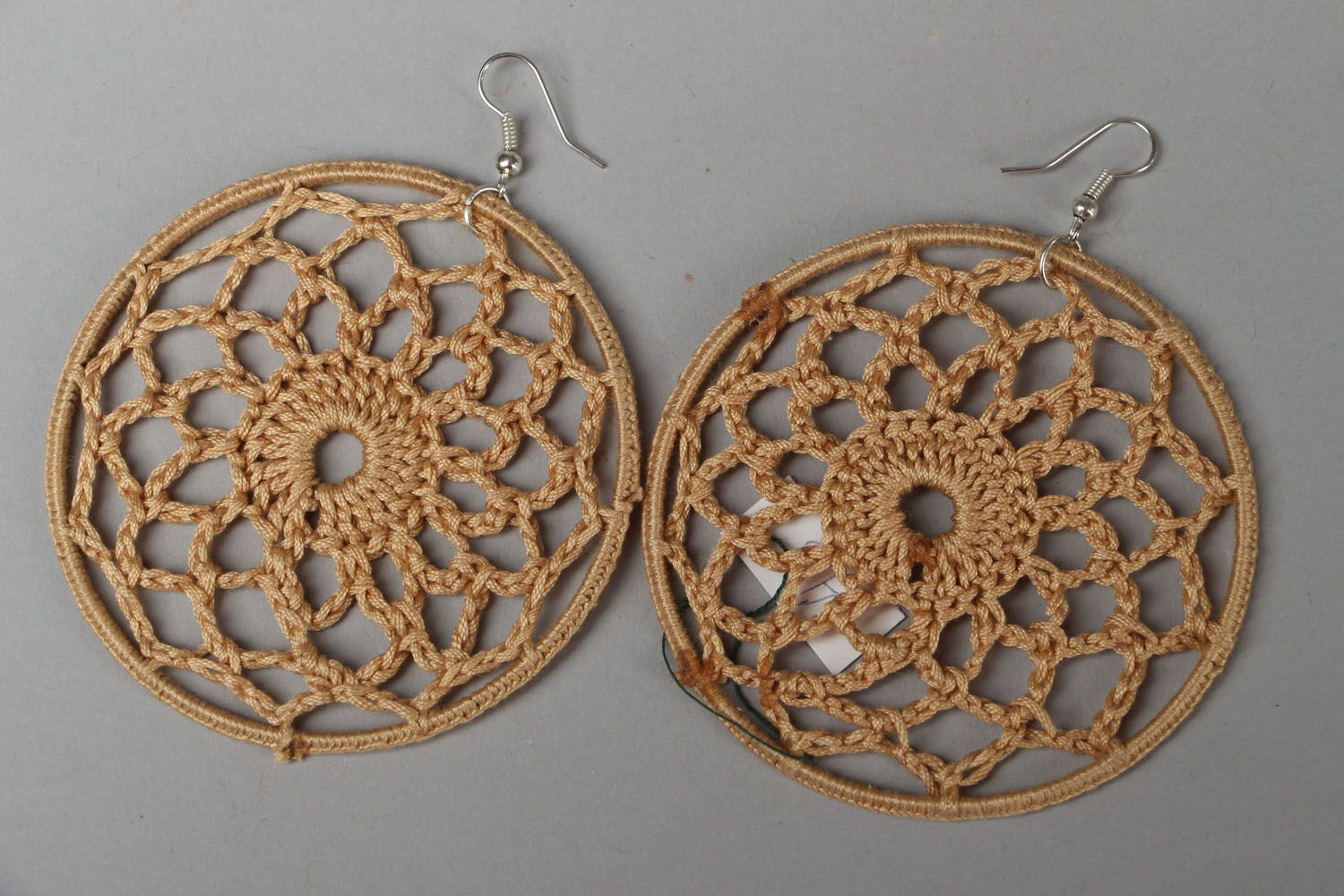 Round lacy earrings photo 1