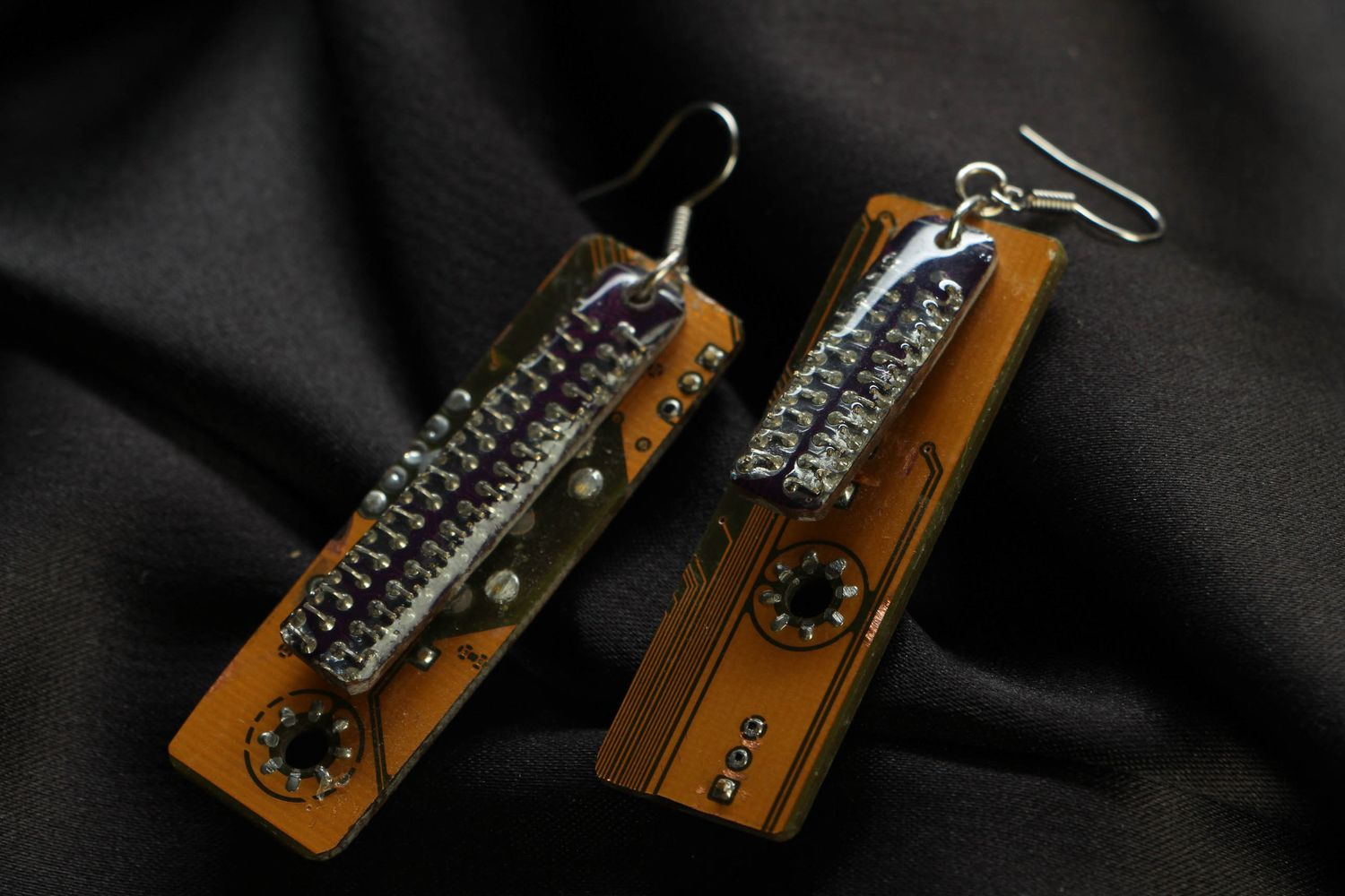 Designer long cyberpunk earrings photo 1