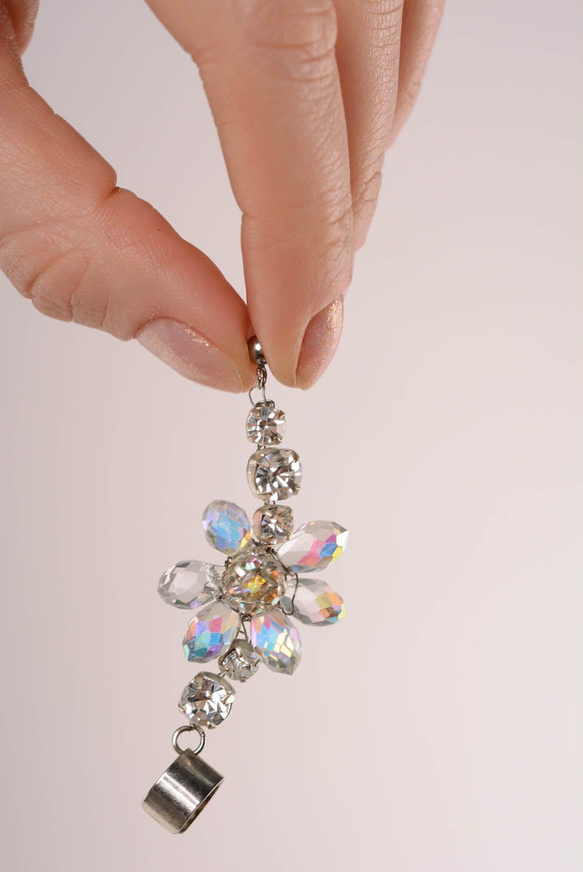 Earrings cuffs Crystal photo 4