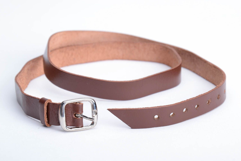 Breites braunes Armband aus Leder handmade originelles regulierbar unisex foto 4