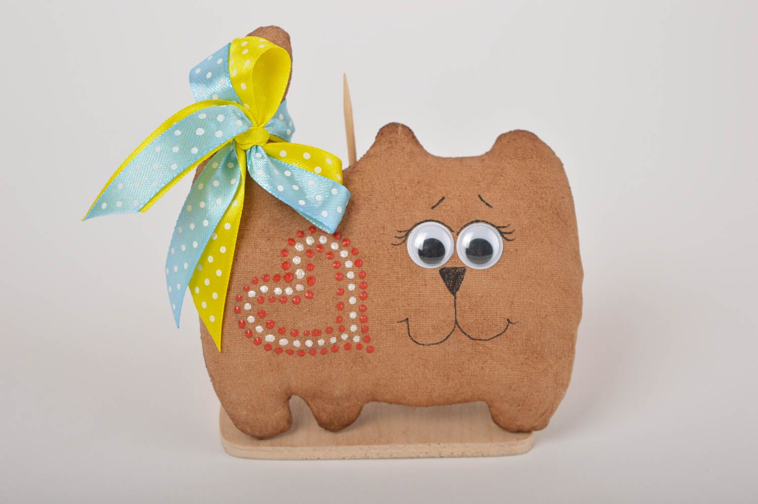 Handmade home decor fridge magnet soft toy animal toy for decorative use only photo 5