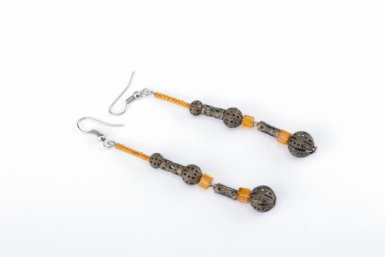Long earrings of unusual design photo 3