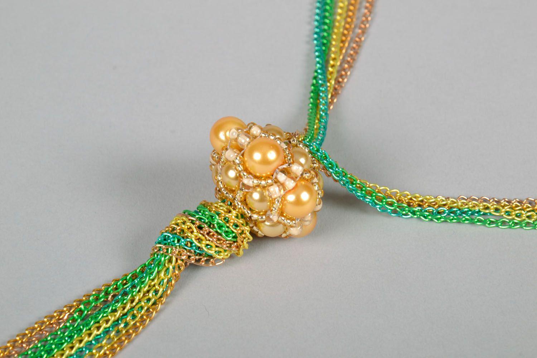 Anhänger aus Perlen handmade foto 3