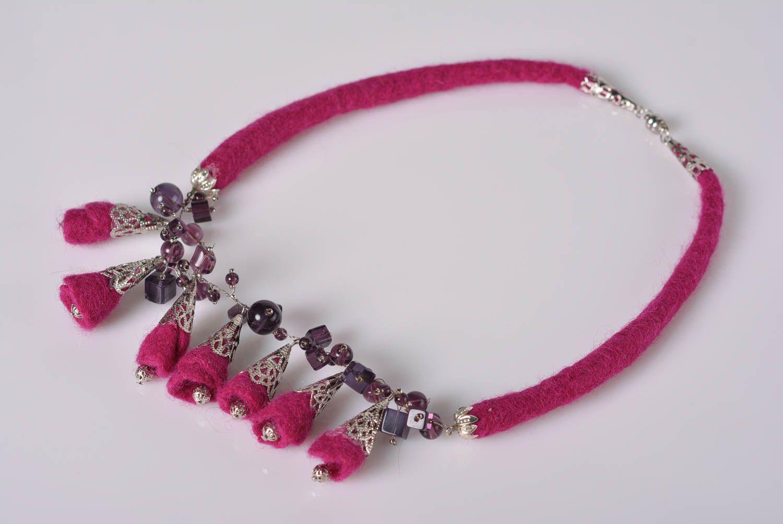 joyería de Tela Collar artesanal de lana original bisutería fina regalo personalizado estiloso , MADEheart.