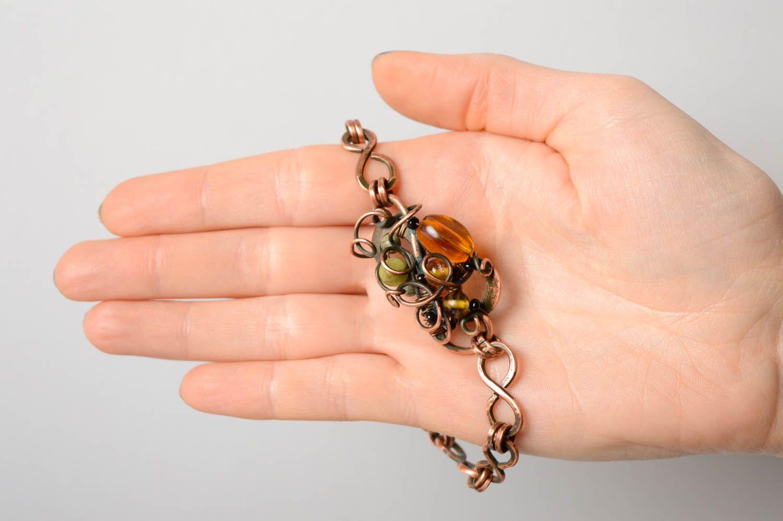 Armband Wire Wrap Technik aus Kupfer foto 4