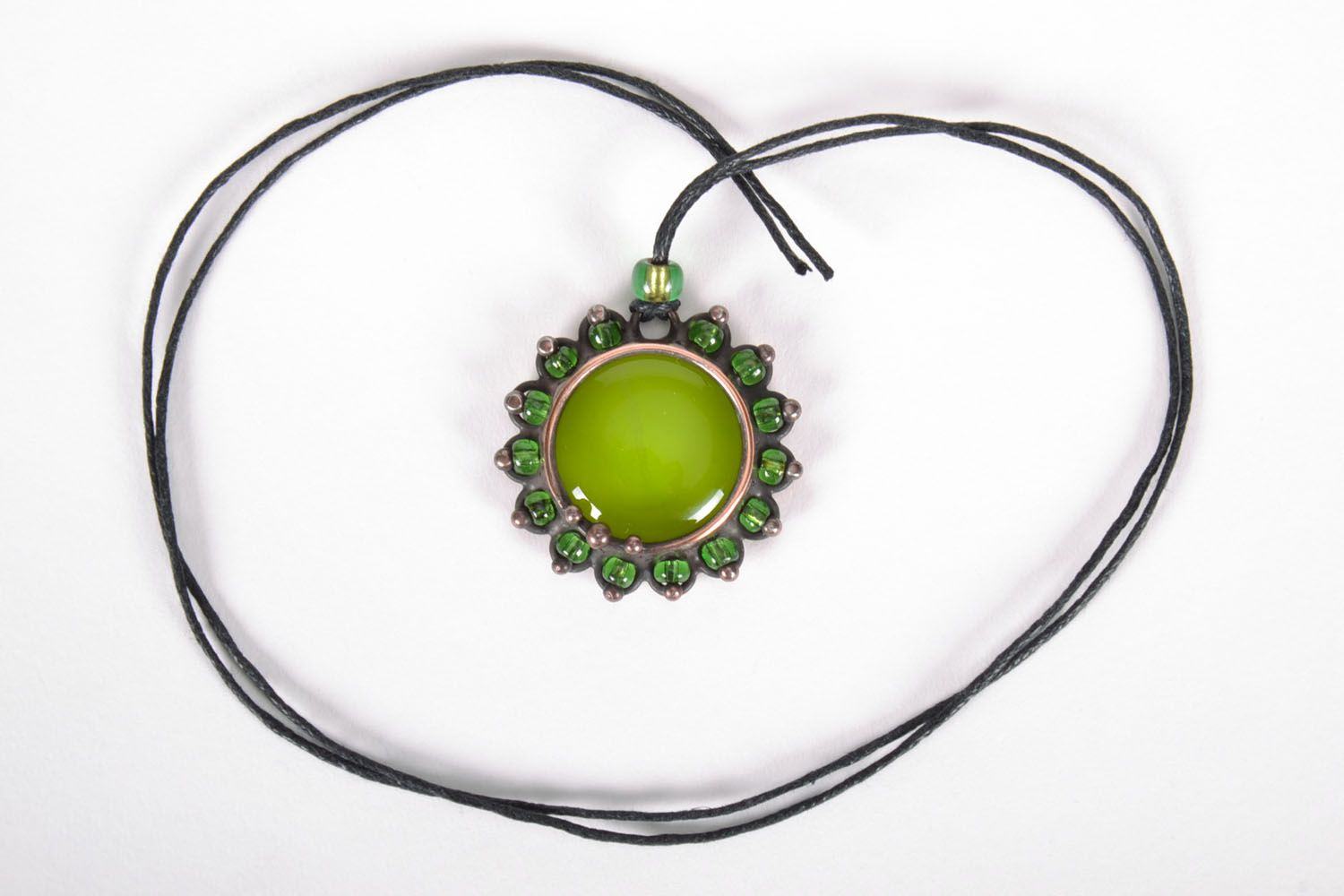Stained-glass pendant Olive photo 4