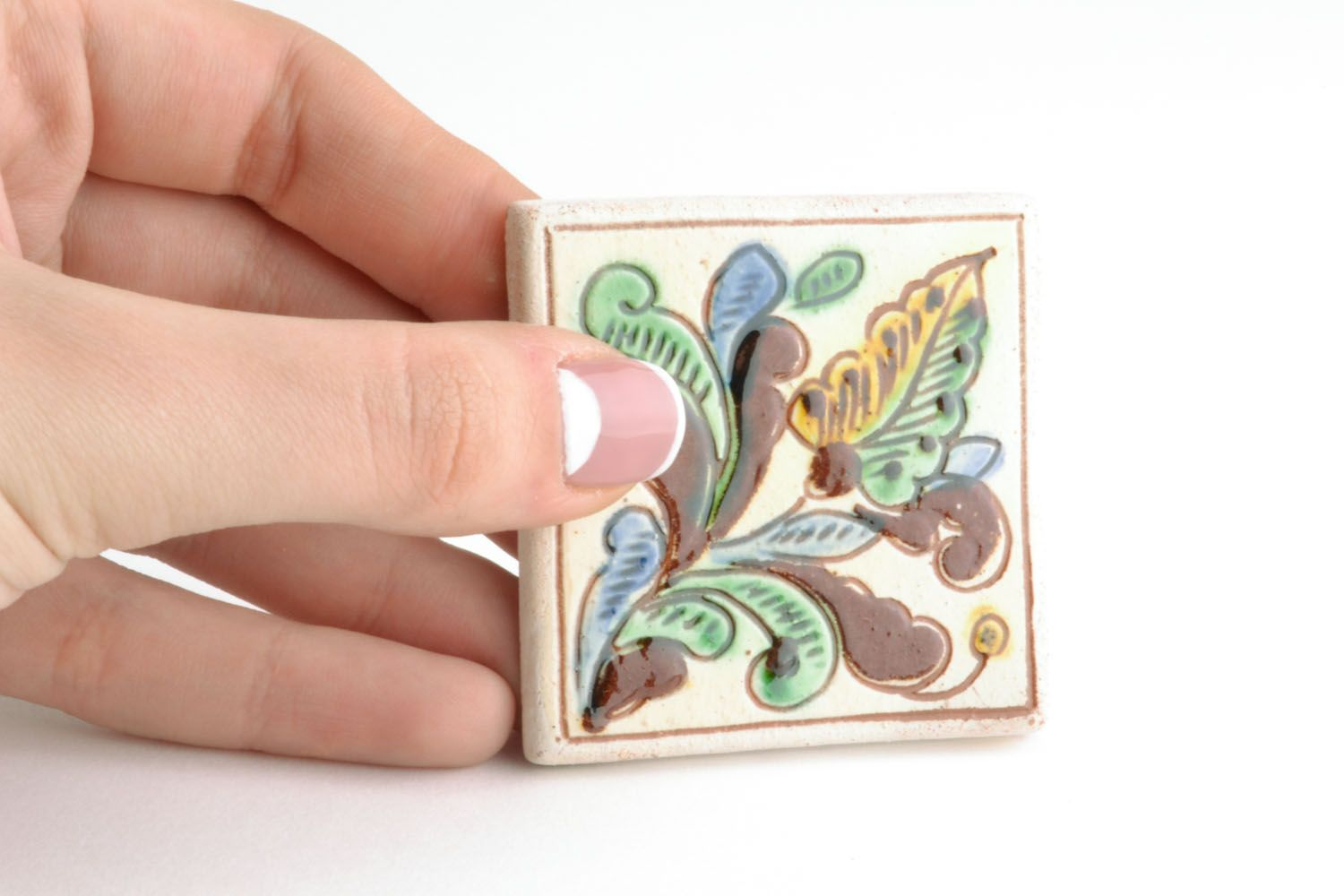 Homemade fridge magnet in ethnic style photo 2