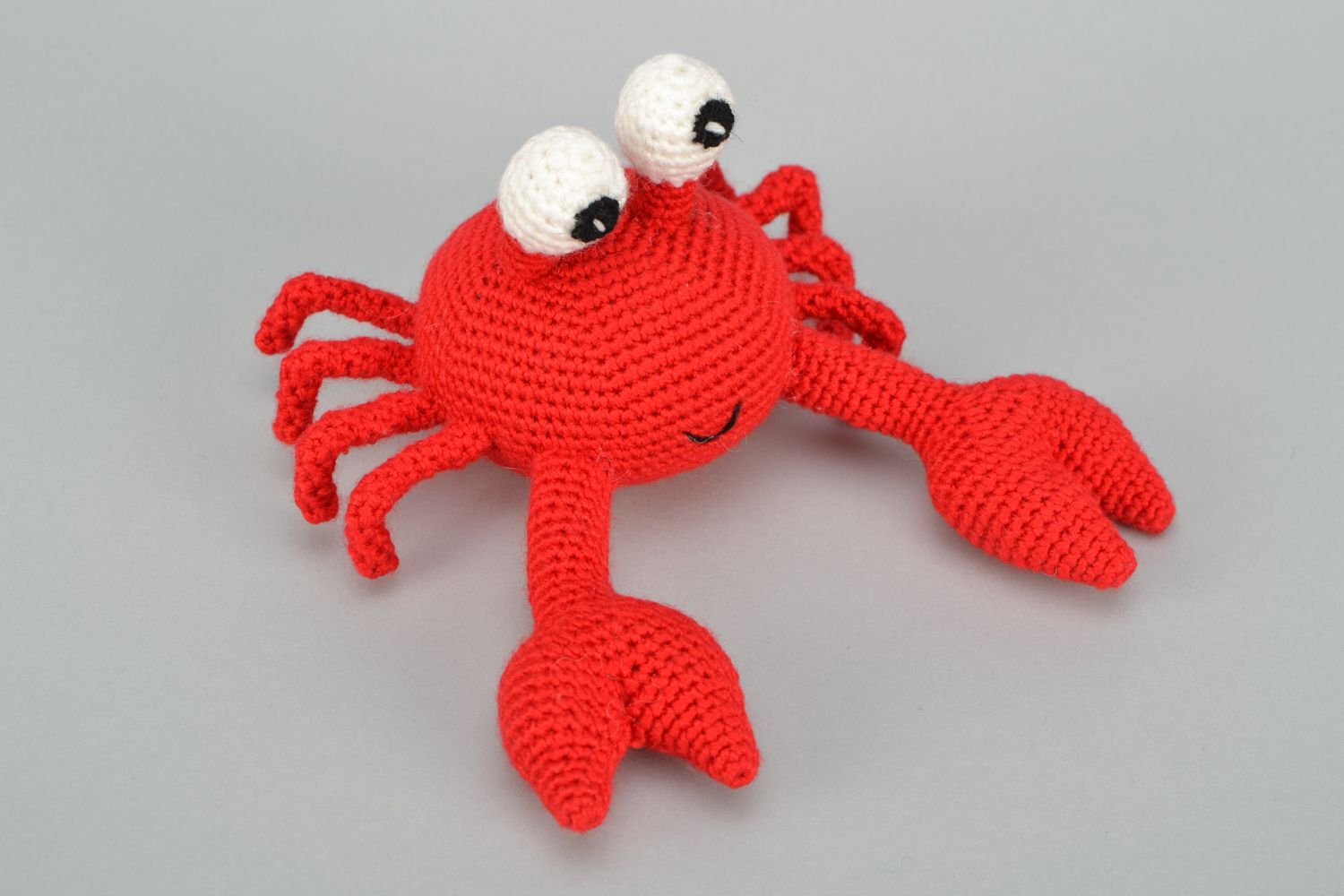 knitted toys Handmade soft crochet toy Crab - MADEheart.com