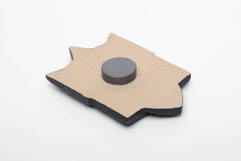Ceramic fridge magnet Trident photo 4
