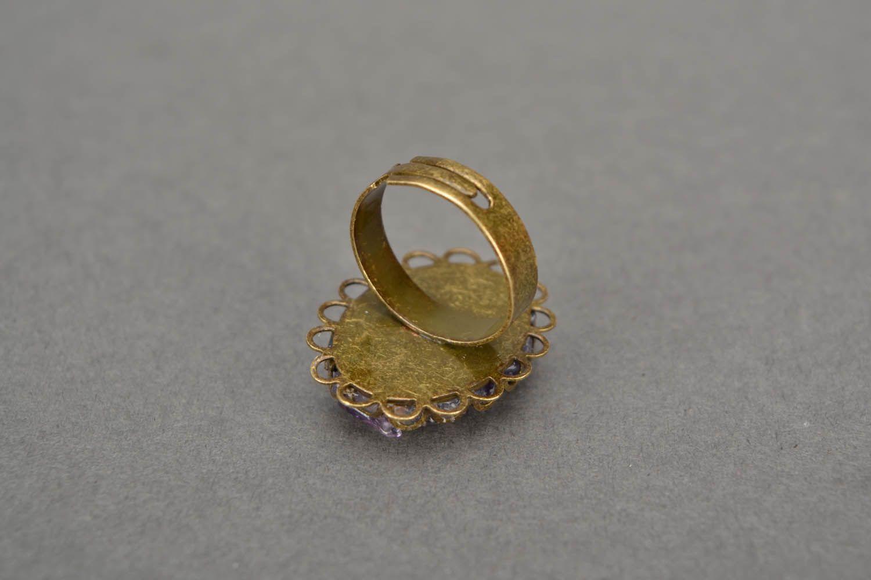 Metall Ring mit Amethyst foto 5