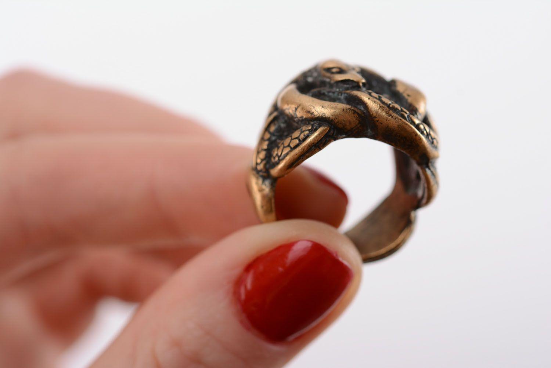 Homemade bronze ring photo 4