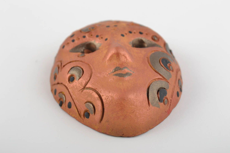 Beautiful handmade painted ceramic fridge magnet souvenir carnival mask photo 5