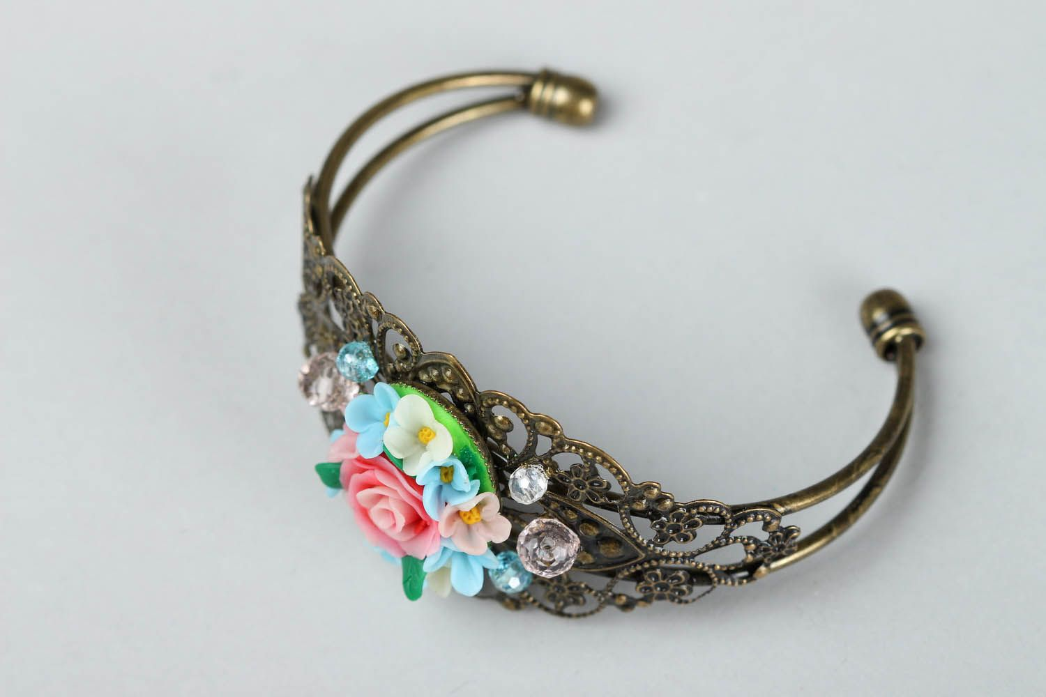 Bracelet made of polymer clay photo 3