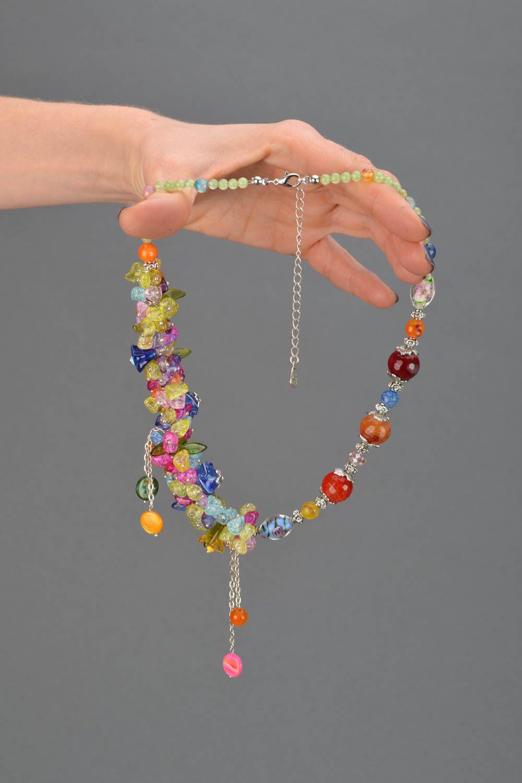 Bright homemade necklace photo 2