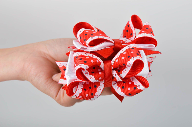 Handmade designer hair ties unusual bow hair ties 2 tender accessories for kids photo 2