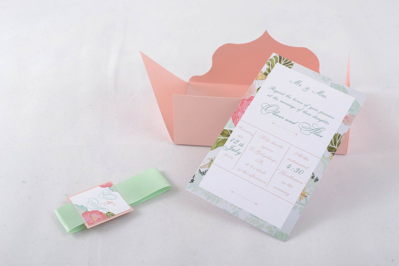 Handmade invitation card photo 1