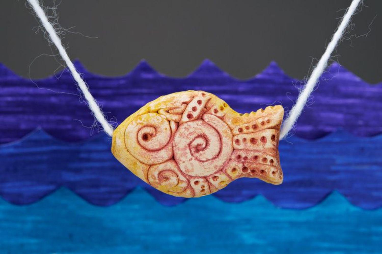 Керамическая подвеска Рыбка золотая фото 1