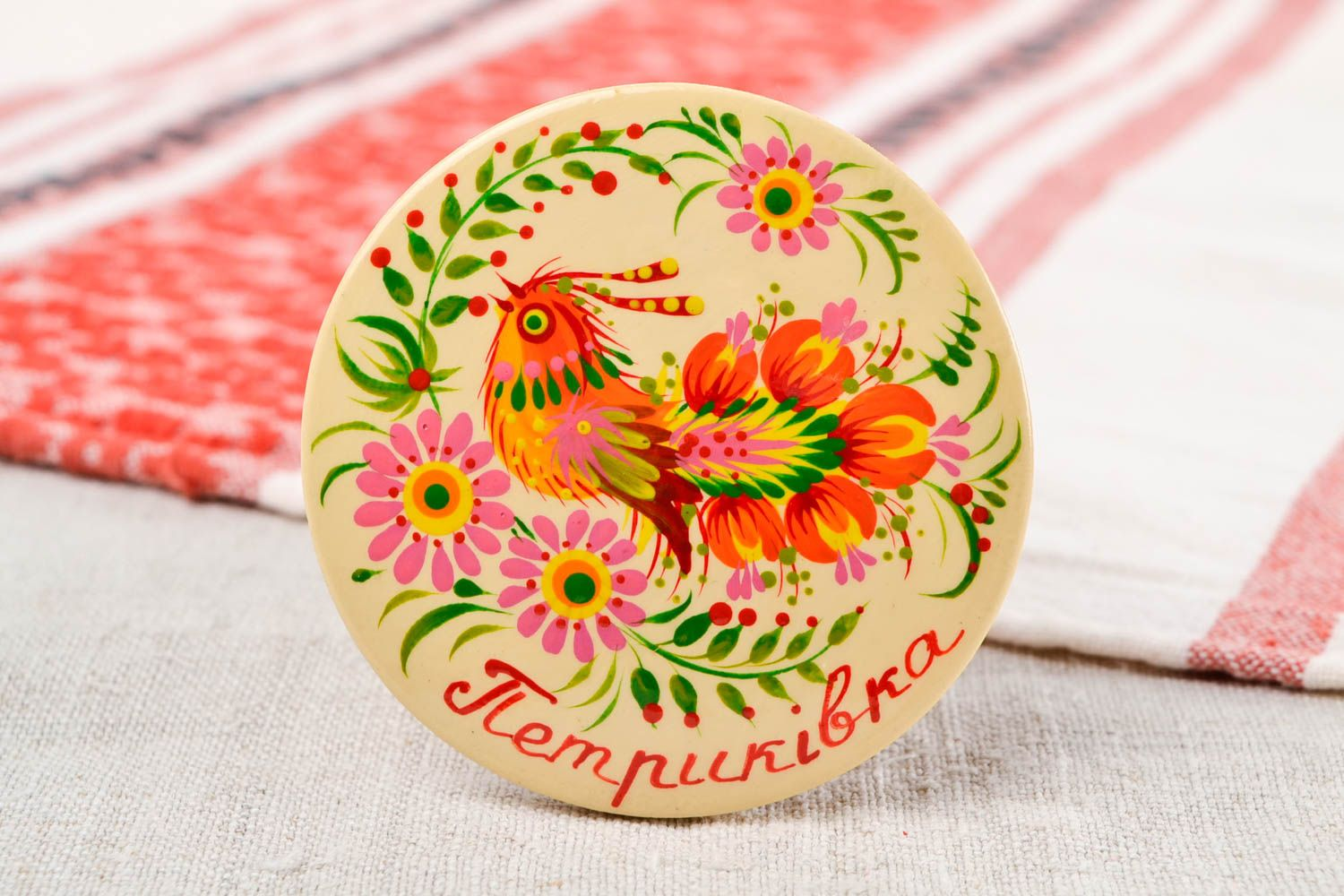 Wooden fridge magnet handmade wood souvenirs for home decorative use only photo 1