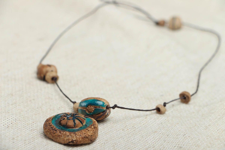 Ceramic amulet pendant photo 2