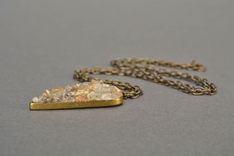 Pendant with quartz Heart photo 5