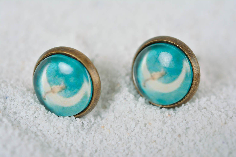 Handmade earrings stud earrings fashion jewelry designer accessories gift ideas photo 1