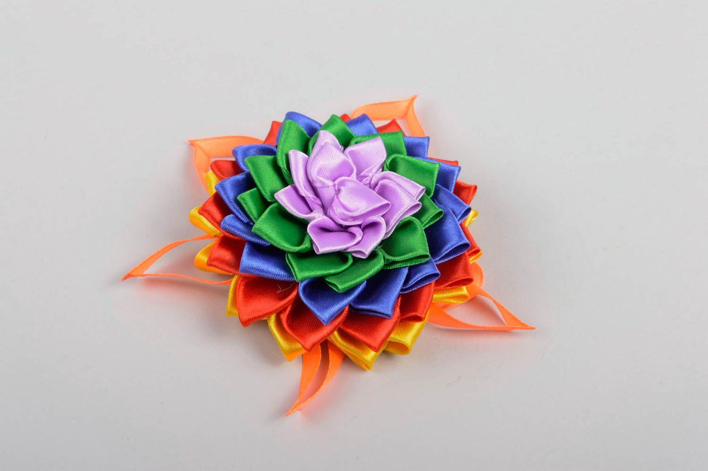 Handmade flower hair clip unusual bright hair clip cute accessory for kids photo 2