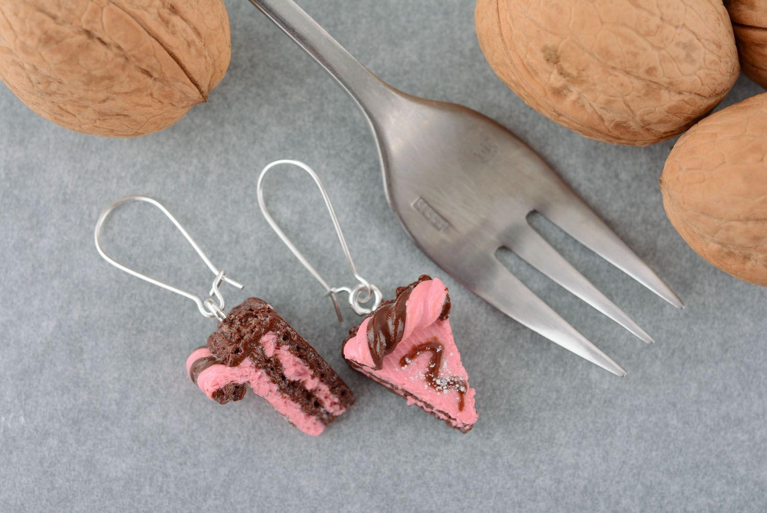 Polymer clay earrings Cakes photo 1