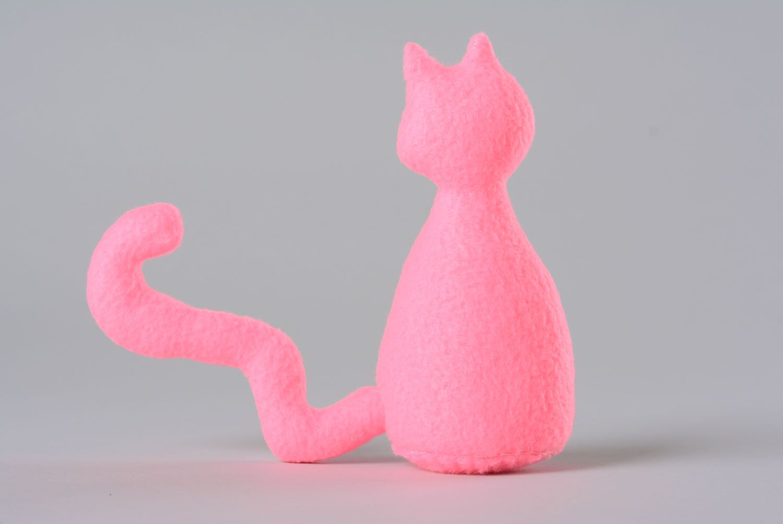 Fleece toy Pink Cat photo 3