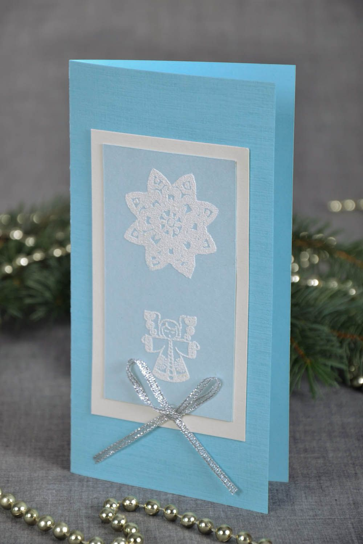Handmade Christmas postcard photo 1
