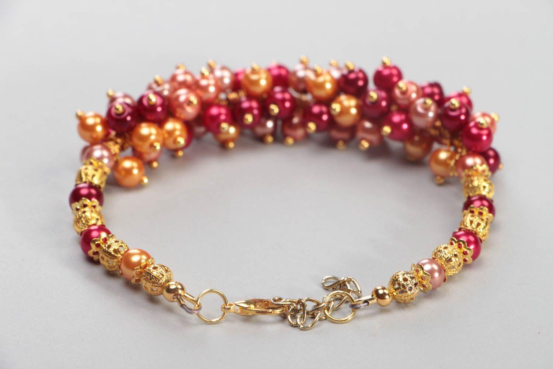 pulseras de cuentas de vidrio Pulsera de perlas cerámicas hecha a mano accesorio para mujer bisutería