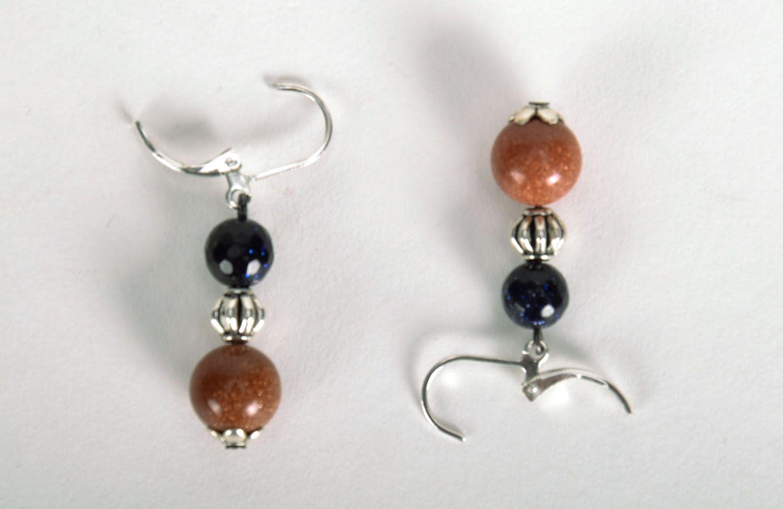 Long earrings with aventurine photo 4