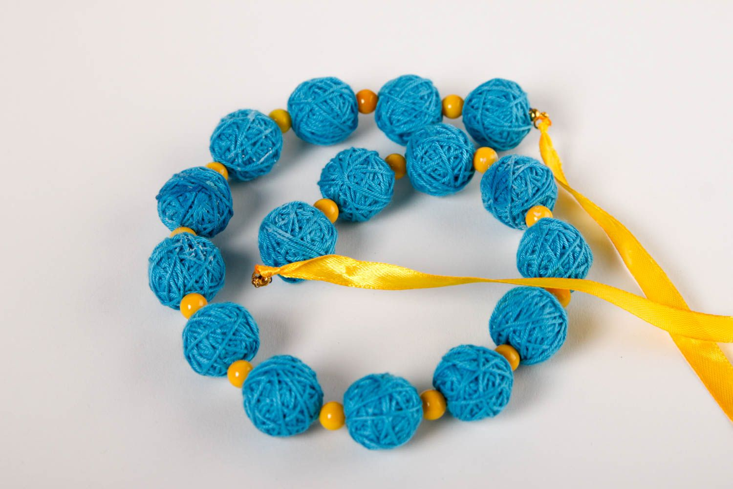 Stylish handmade textile ball necklace artisan jewelry designs gifts for her photo 2
