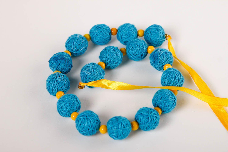 Handmade Stoff Halskette Designer Schmuck Frauen Accessoire Halskette für Frauen foto 2