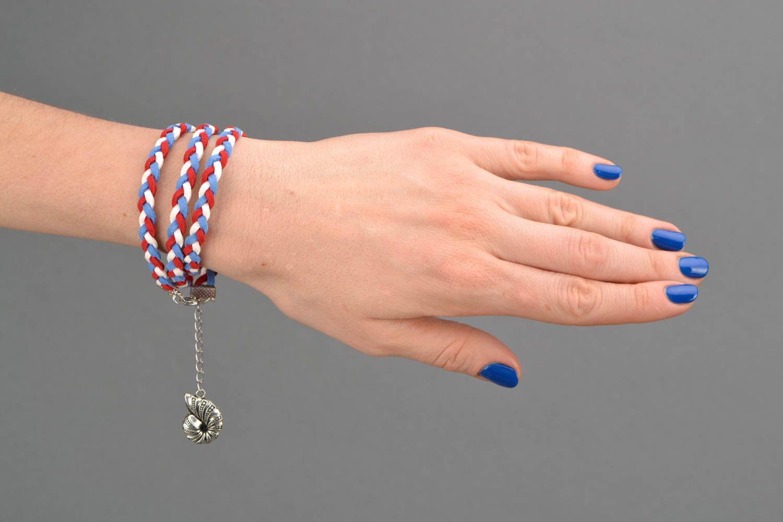 Suede wrist bracelet Seashell photo 2