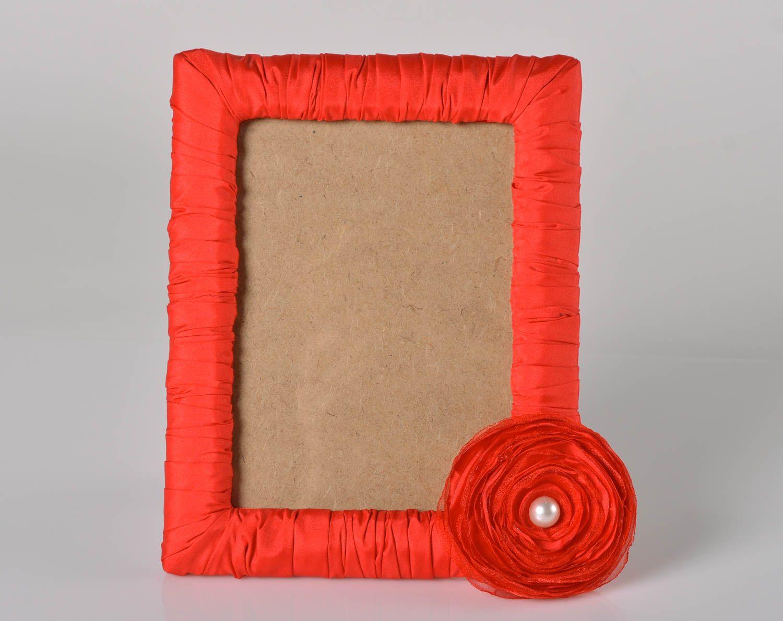 MADEHEART > Marco para foto de madera hecho a mano rojo elemento ...