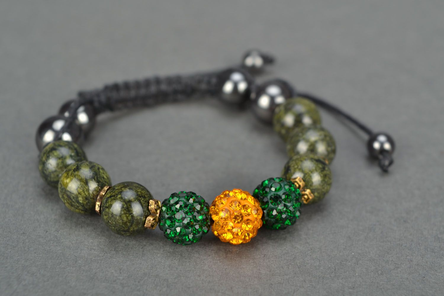 Handmade bracelet with coil stone photo 3
