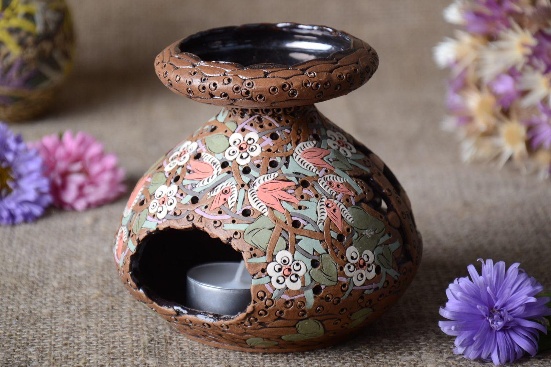 Handmade carved designer candlestick stylish aroma lamp ceramic candlestick photo 1