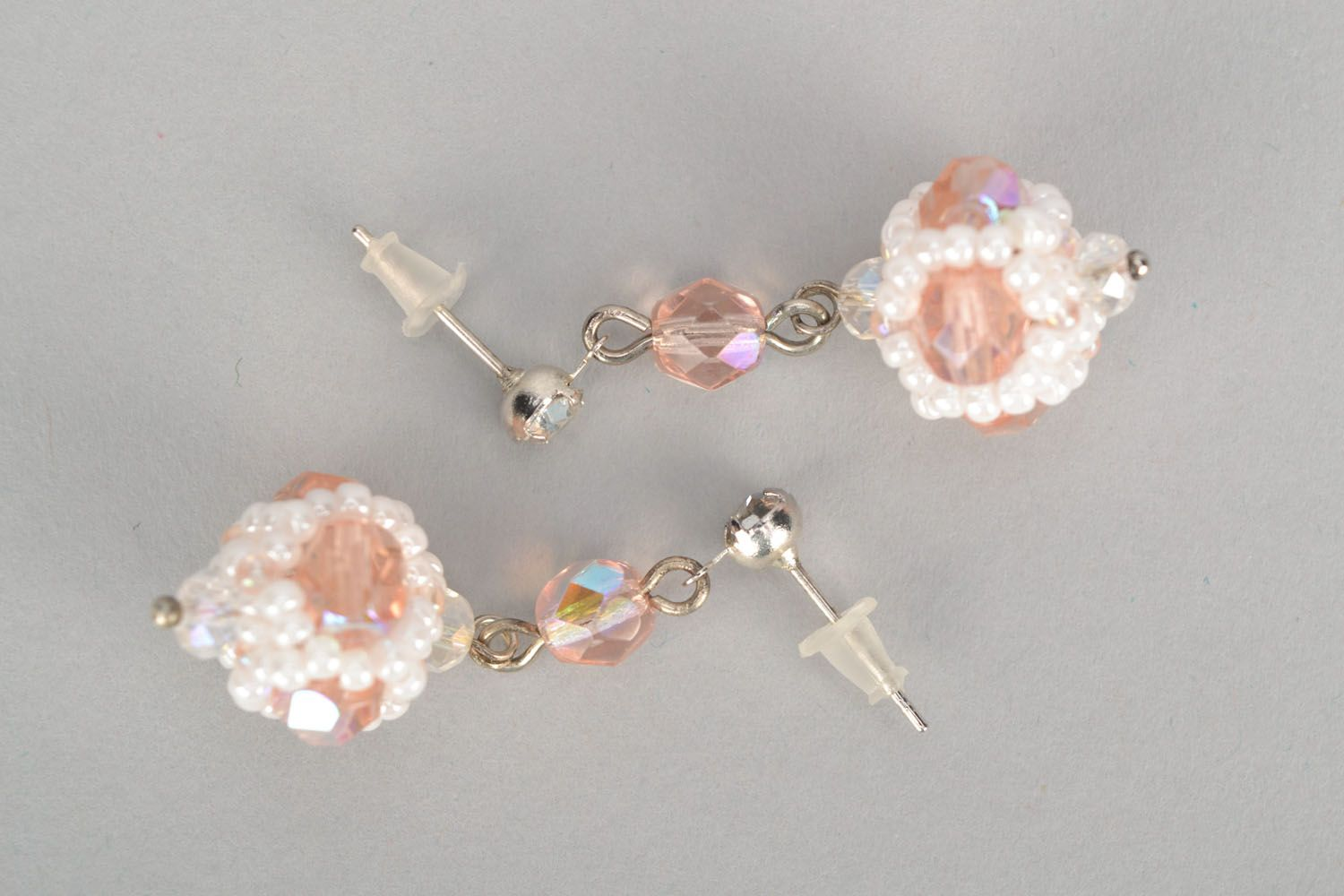Long crystal earrings photo 3