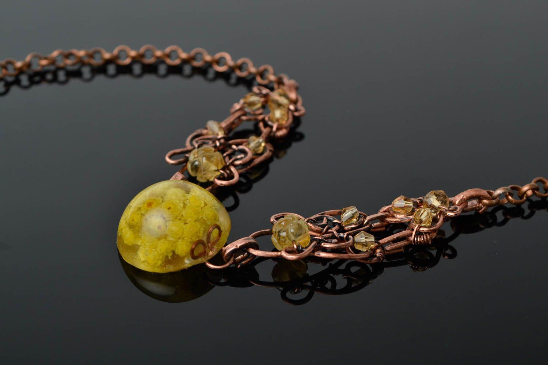 Unusual handmade wire wrap necklace beautiful jewellery metal necklace design photo 1
